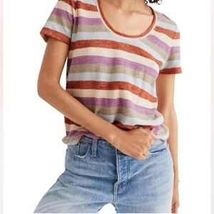 Madewell Multicolor Gavin Striped Tee M